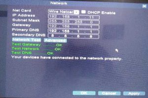 setting network dvr dhcp enable